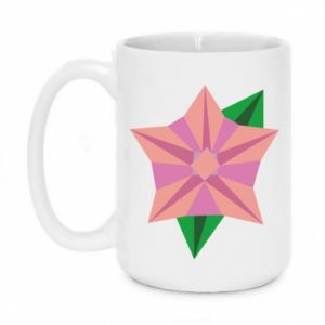 Mug 450ml Angle Flower Abstraction - PrintSalon