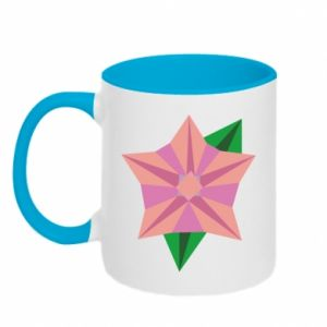 Two-toned mug Angle Flower Abstraction - PrintSalon
