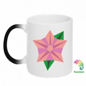 Chameleon mugs Angle Flower Abstraction - PrintSalon