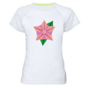 Women's sports t-shirt Angle Flower Abstraction - PrintSalon