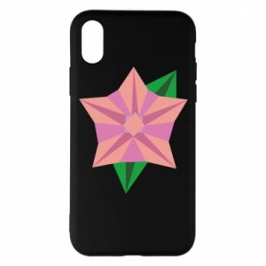 Phone case for iPhone X/Xs Angle Flower Abstraction - PrintSalon