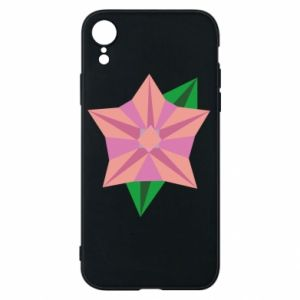 Phone case for iPhone XR Angle Flower Abstraction - PrintSalon