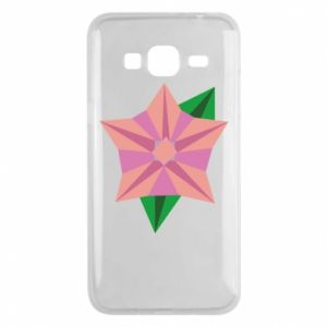 Phone case for Samsung J3 2016 Angle Flower Abstraction - PrintSalon
