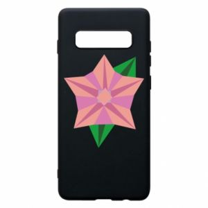 Phone case for Samsung S10+ Angle Flower Abstraction - PrintSalon