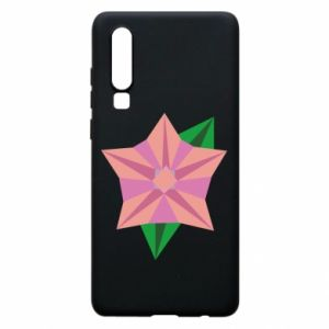 Phone case for Huawei P30 Angle Flower Abstraction - PrintSalon