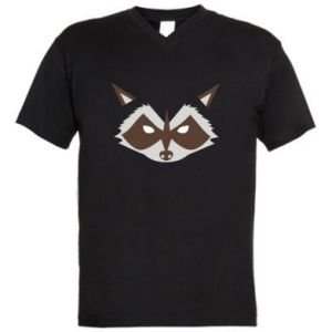 Męska koszulka V-neck Angle Raccoon