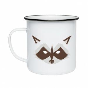 Kubek emaliowane Angle Raccoon