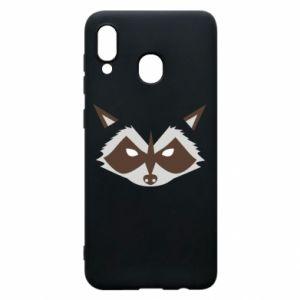 Etui na Samsung A20 Angle Raccoon