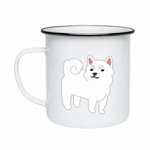Kubek emaliowany Angry dog
