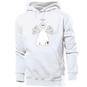 Men's hoodie Angel with heart