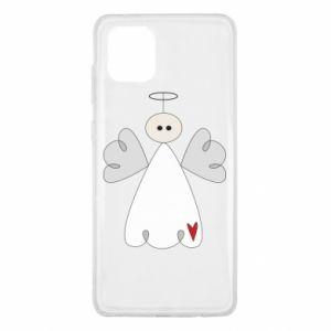 Etui na Samsung Note 10 Lite Anioł z sercem