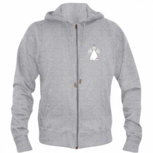 Men's zip up hoodie Angel with heart