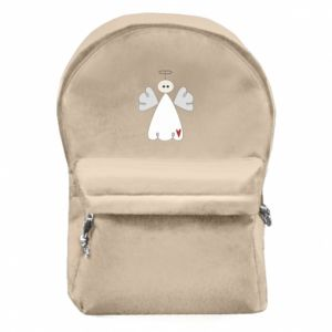 Backpack with front pocket Angel with heart