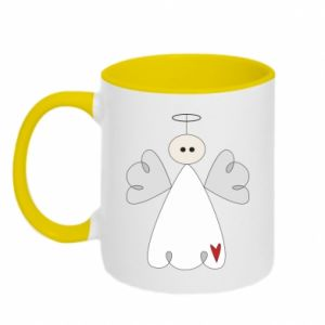 Two-toned mug Angel with heart