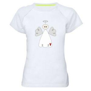 Damska koszulka sportowa Anioł z sercem