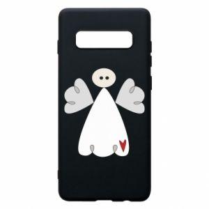 Etui na Samsung S10+ Anioł z sercem