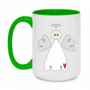 Two-toned mug 450ml Angel with heart