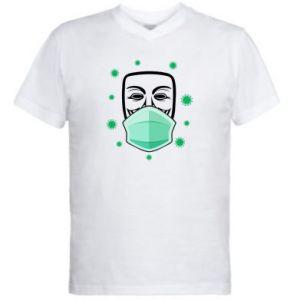 Męska koszulka V-neck Anonymus