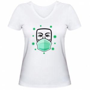 Women's V-neck t-shirt Anonymous