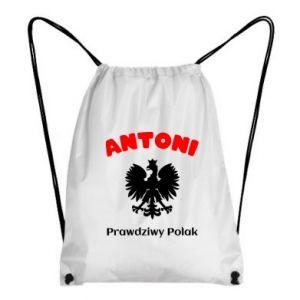 Plecak-worek Antoni jest prawdziwym Polakiem