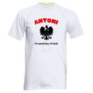 Męska koszulka sportowa Antoni jest prawdziwym Polakiem