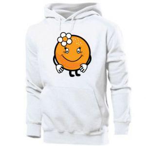 Men's hoodie Orange, for girls - PrintSalon