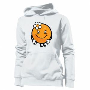 Women's hoodies Orange, for girls - PrintSalon