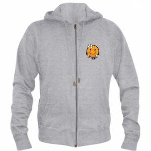 Men's zip up hoodie Orange, for girls - PrintSalon