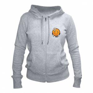 Women's zip up hoodies Orange, for girls - PrintSalon