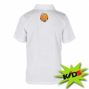 Children's Polo shirts Orange, for girls - PrintSalon