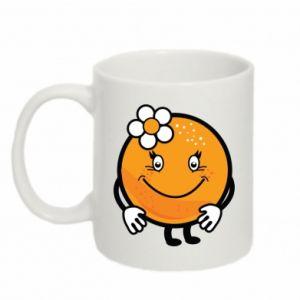Mug 330ml Orange, for girls - PrintSalon