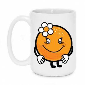 Mug 450ml Orange, for girls - PrintSalon
