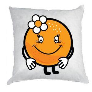 Pillow Orange, for girls - PrintSalon