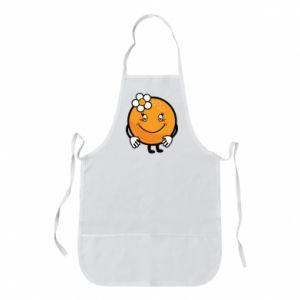 Apron Orange, for girls - PrintSalon