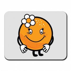 Mouse pad Orange, for girls - PrintSalon