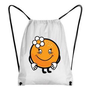 Backpack-bag Orange, for girls - PrintSalon