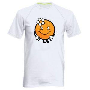 Men's sports t-shirt Orange, for girls - PrintSalon