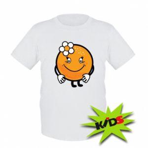 Kids T-shirt Orange, for girls - PrintSalon
