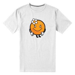 Men's premium t-shirt Orange, for girls - PrintSalon