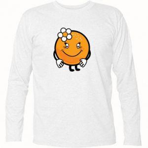 Long Sleeve T-shirt Orange, for girls - PrintSalon
