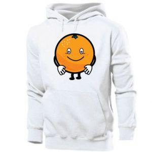 Męska bluza z kapturem Pomarańcza