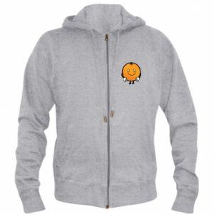 Men's zip up hoodie Orange - PrintSalon