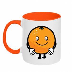 Kubek dwukolorowy Pomarańcza
