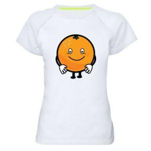 Women's sports t-shirt Orange - PrintSalon
