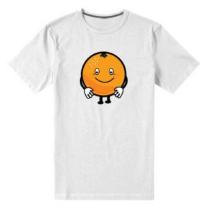 Męska premium koszulka Pomarańcza