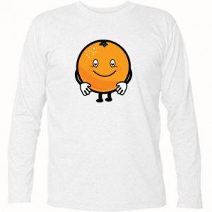 Long Sleeve T-shirt Orange - PrintSalon