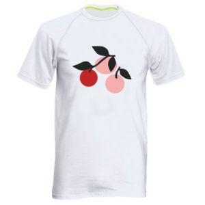 Męska koszulka sportowa Apples on a branch