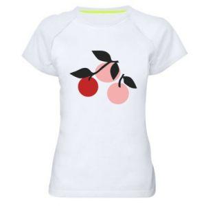 Damska koszulka sportowa Apples on a branch