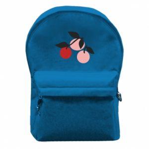 Plecak z przednią kieszenią Apples on a branch