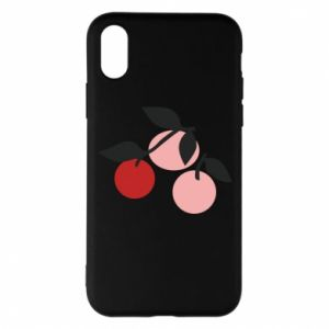 Etui na iPhone X/Xs Apples on a branch